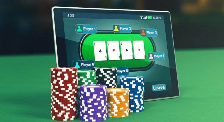 Online poker live dealer